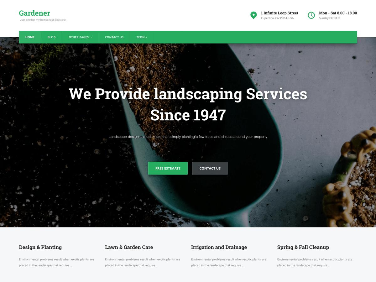 Gardener Download Free Wordpress Theme 1