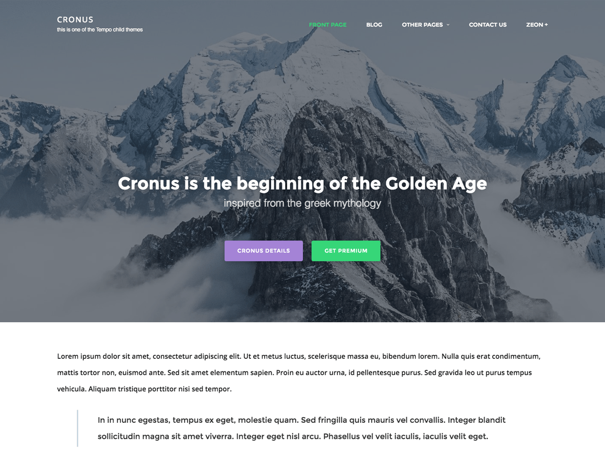 Cronus Download Free Wordpress Theme 2