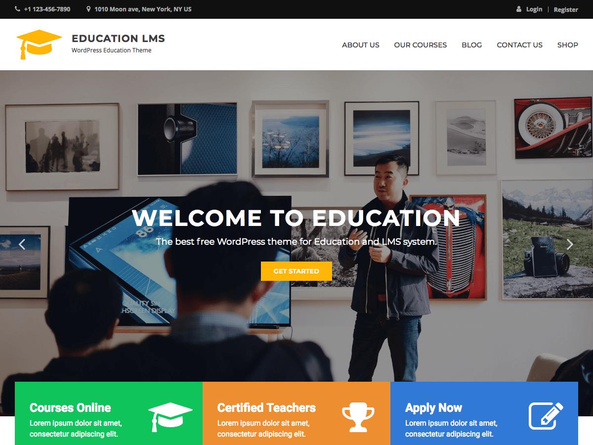 Education LMS Download Free Wordpress Theme 5