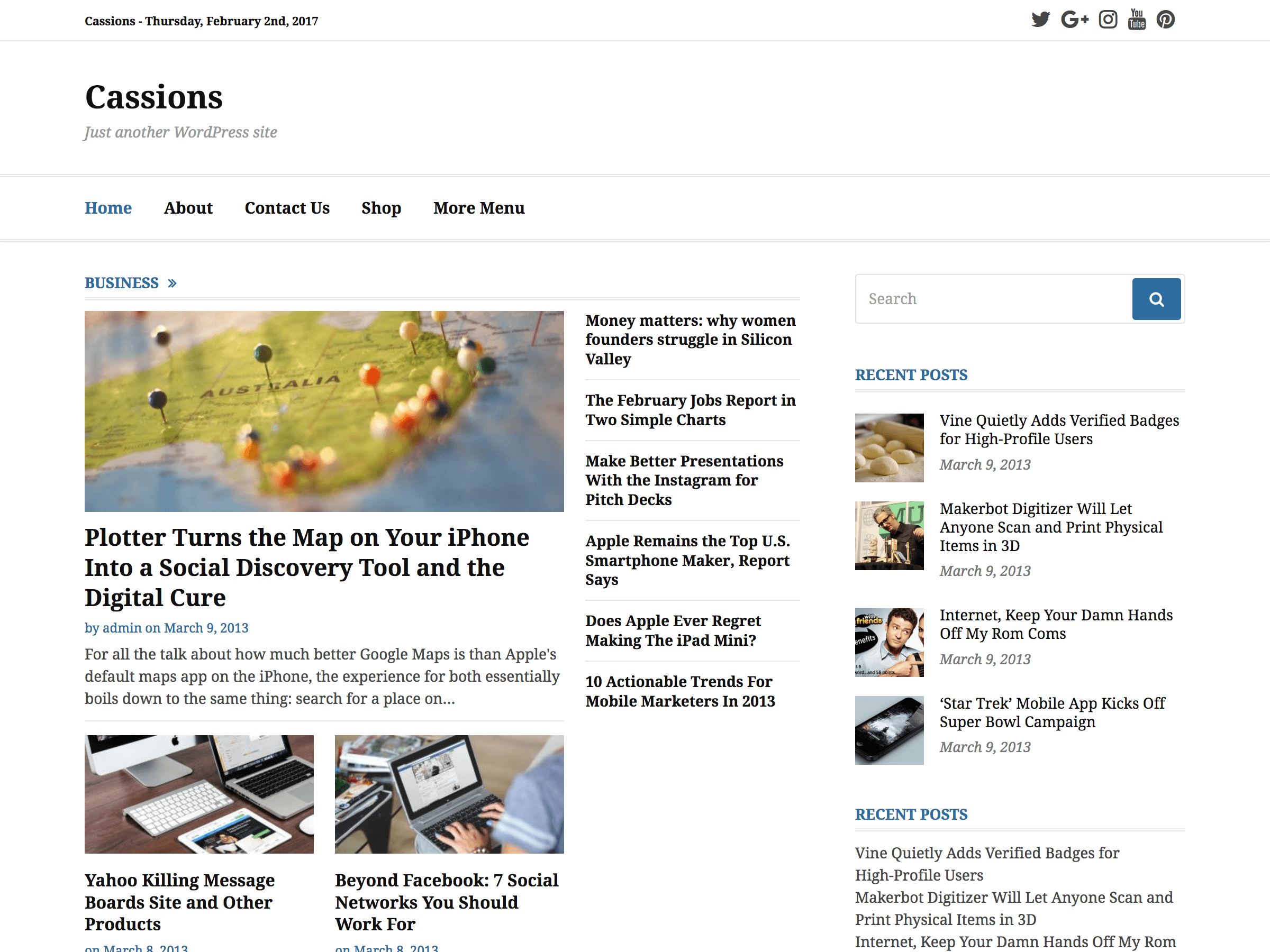 Cassions Download Free Wordpress Theme 1