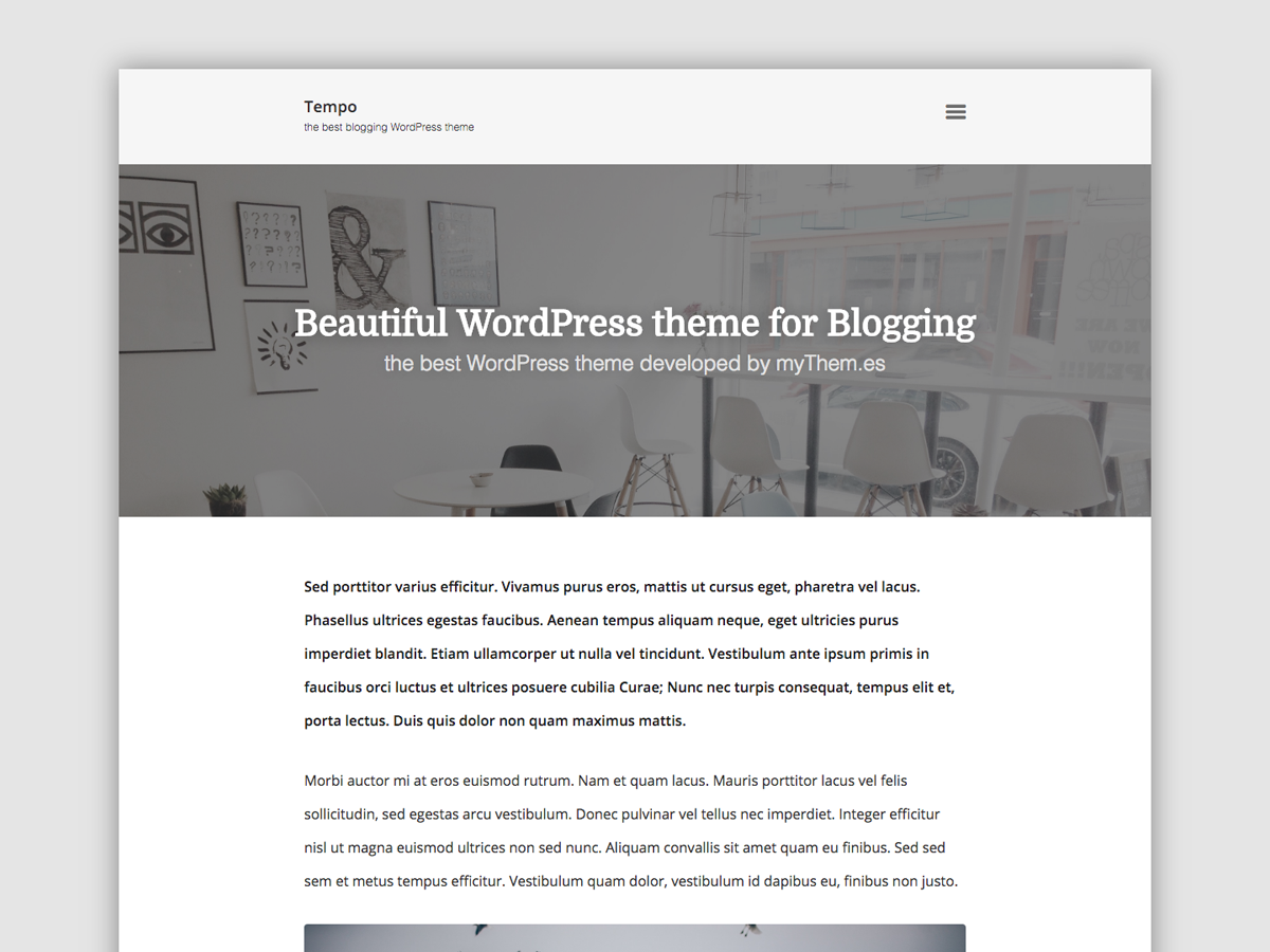 Tempo Download Free Wordpress Theme 4