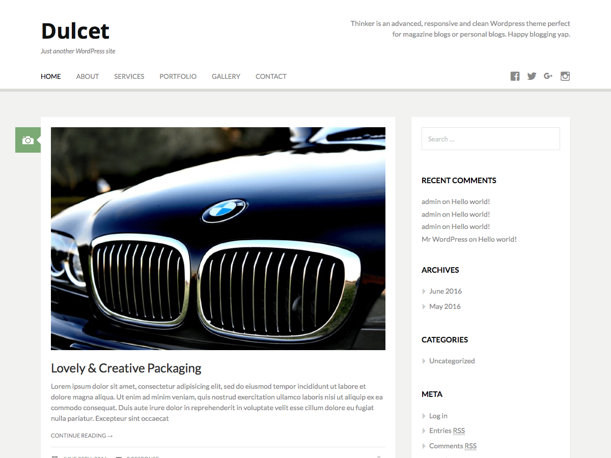 Dulcet Download Free Wordpress Theme 5
