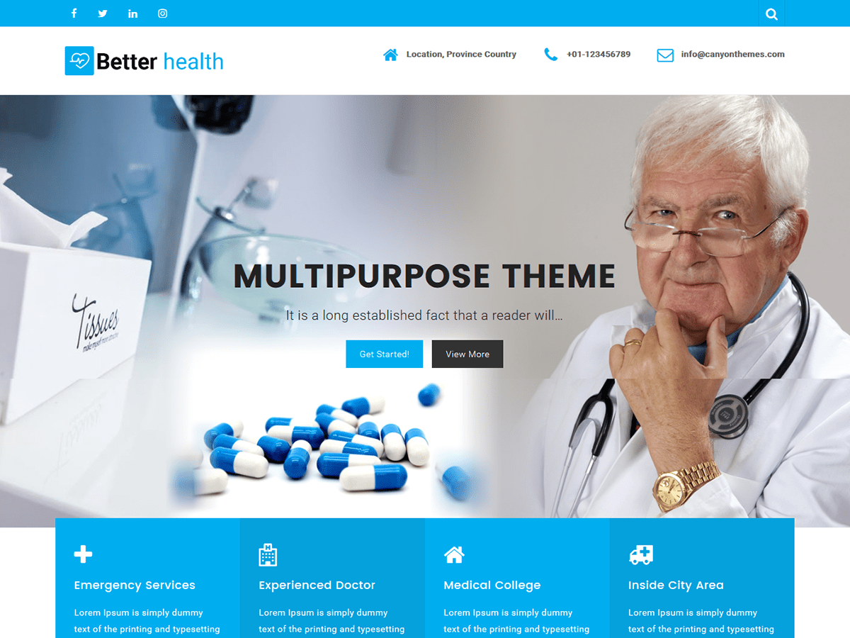 Better Health Download Free Wordpress Theme 2