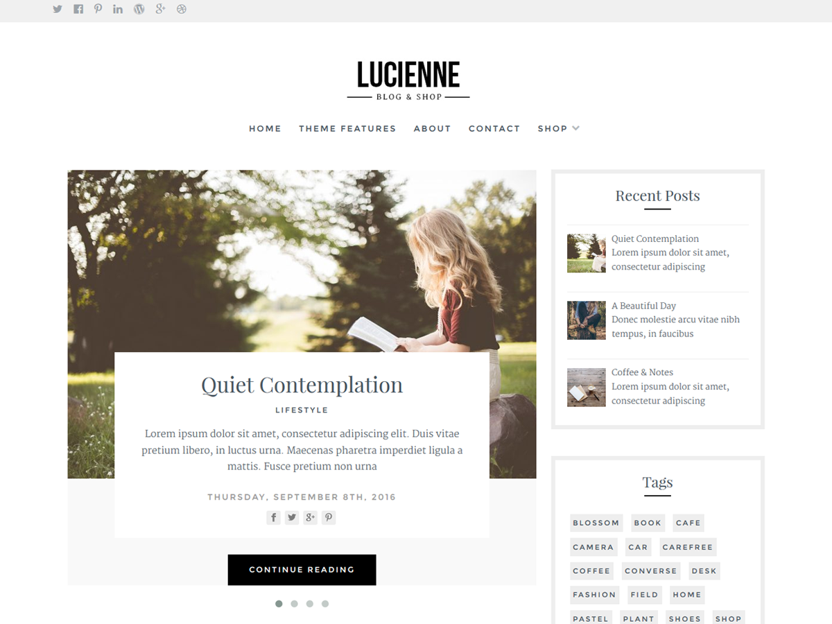Lucienne Download Free Wordpress Theme 1