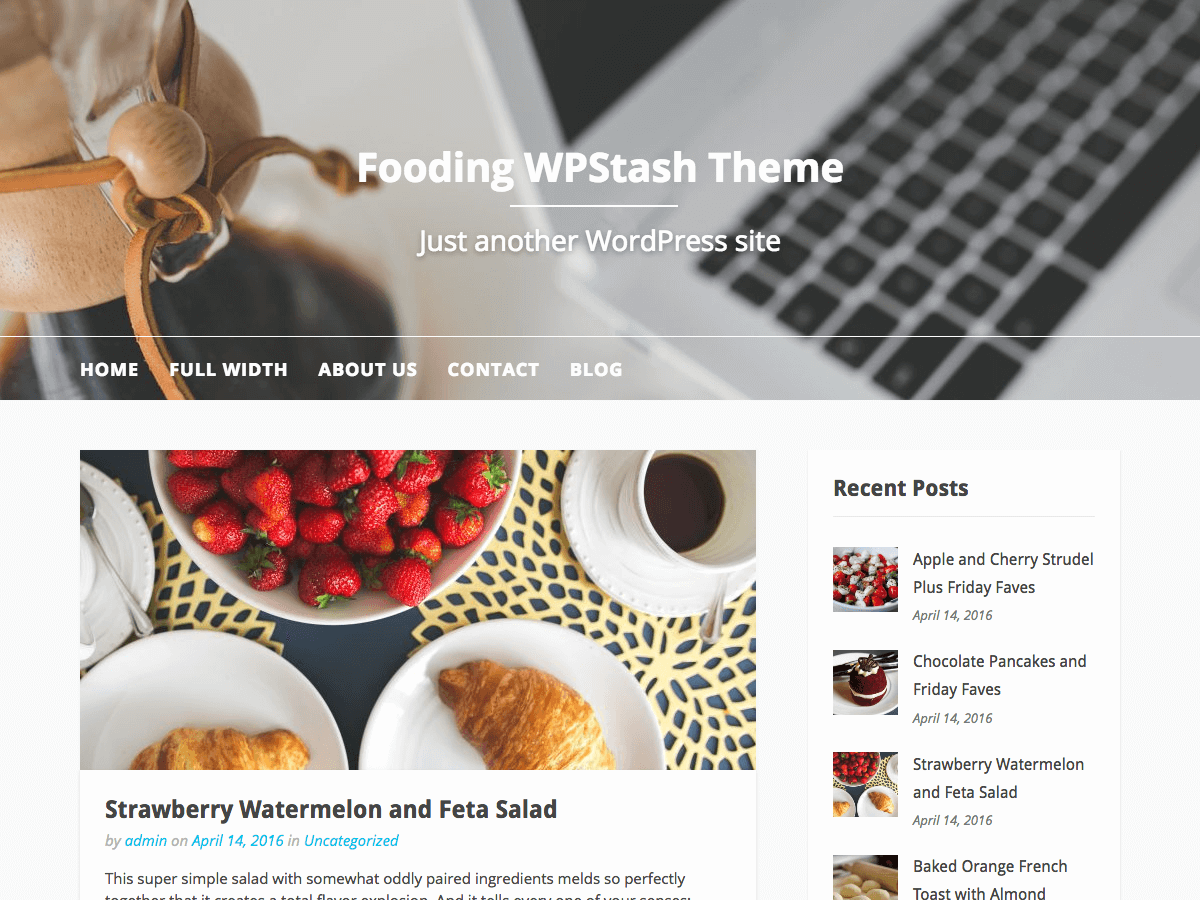 Fooding Download Free Wordpress Theme 4