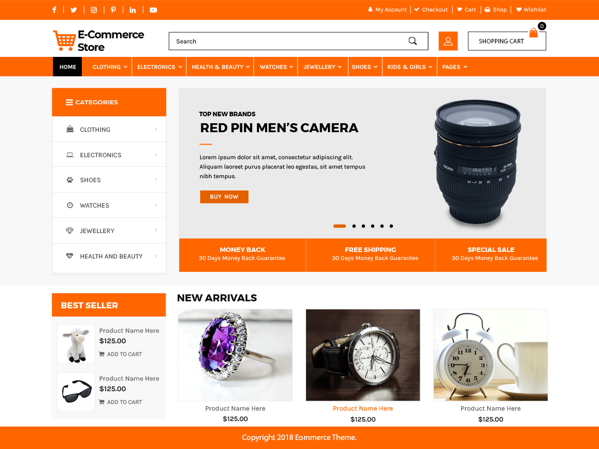 Advance Ecommerce Store Download Free Wordpress Theme 2