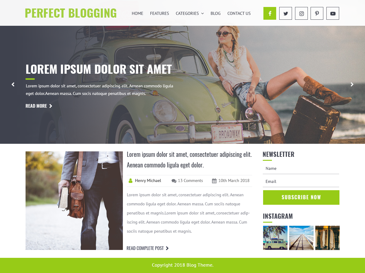 Perfect Blogging Download Free Wordpress Theme 1