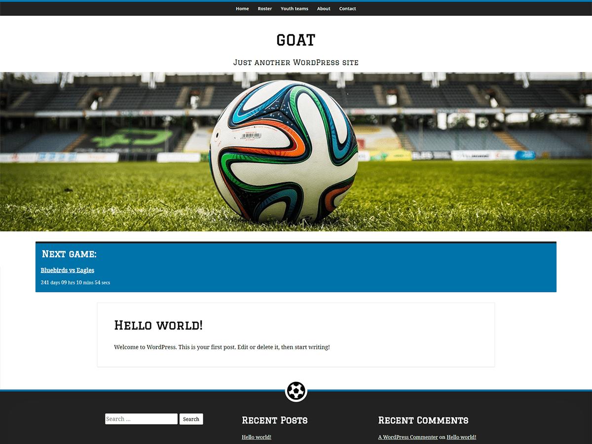 GOAT Download Free Wordpress Theme 4