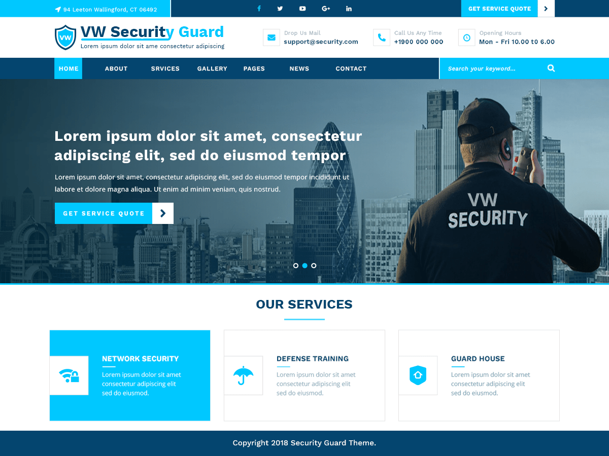 VW Security Guard Download Free Wordpress Theme 2
