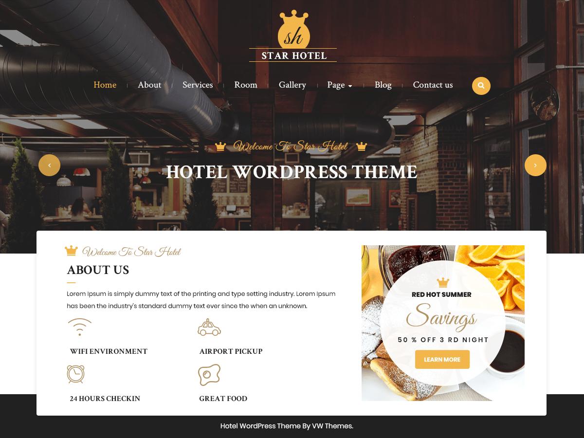 VW Hotel Download Free Wordpress Theme 4