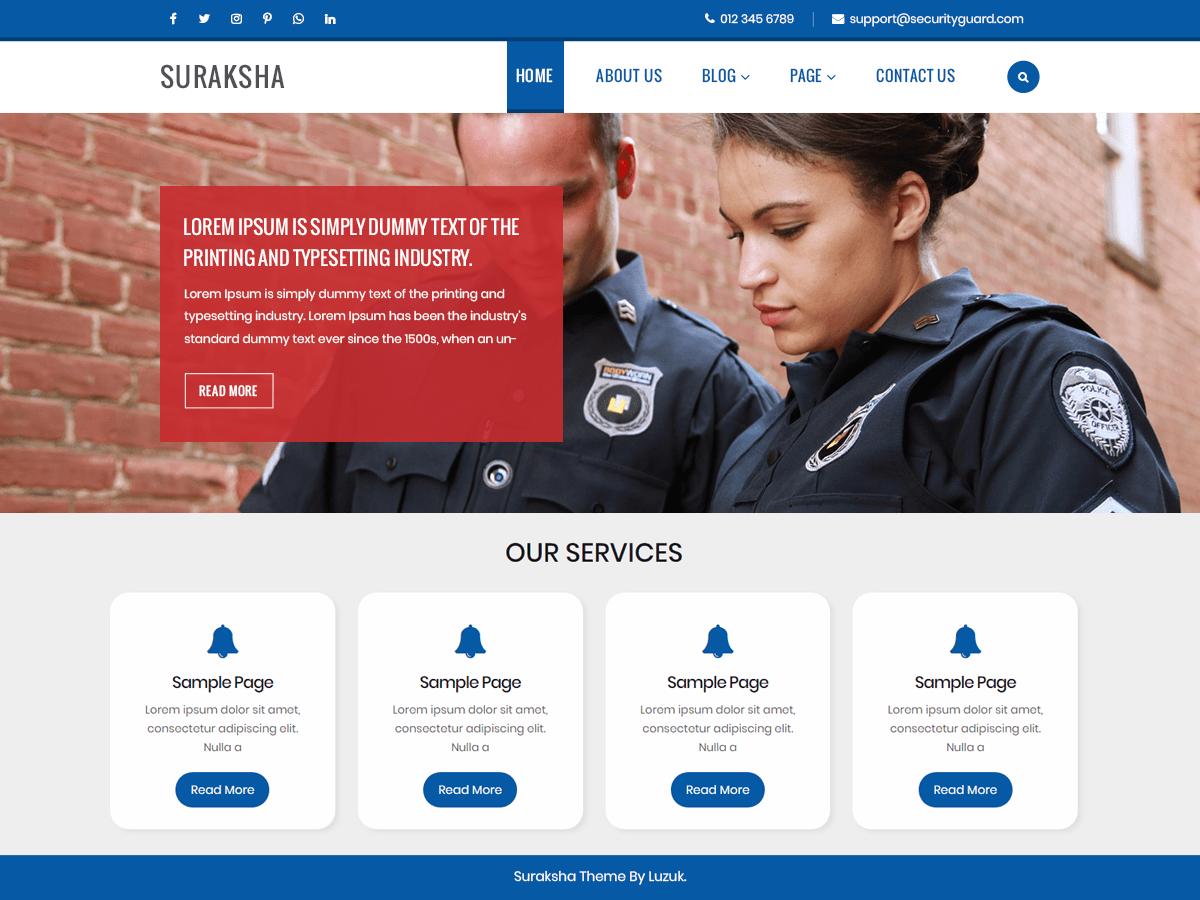 Suraksha Security Guard Download Free Wordpress Theme 3