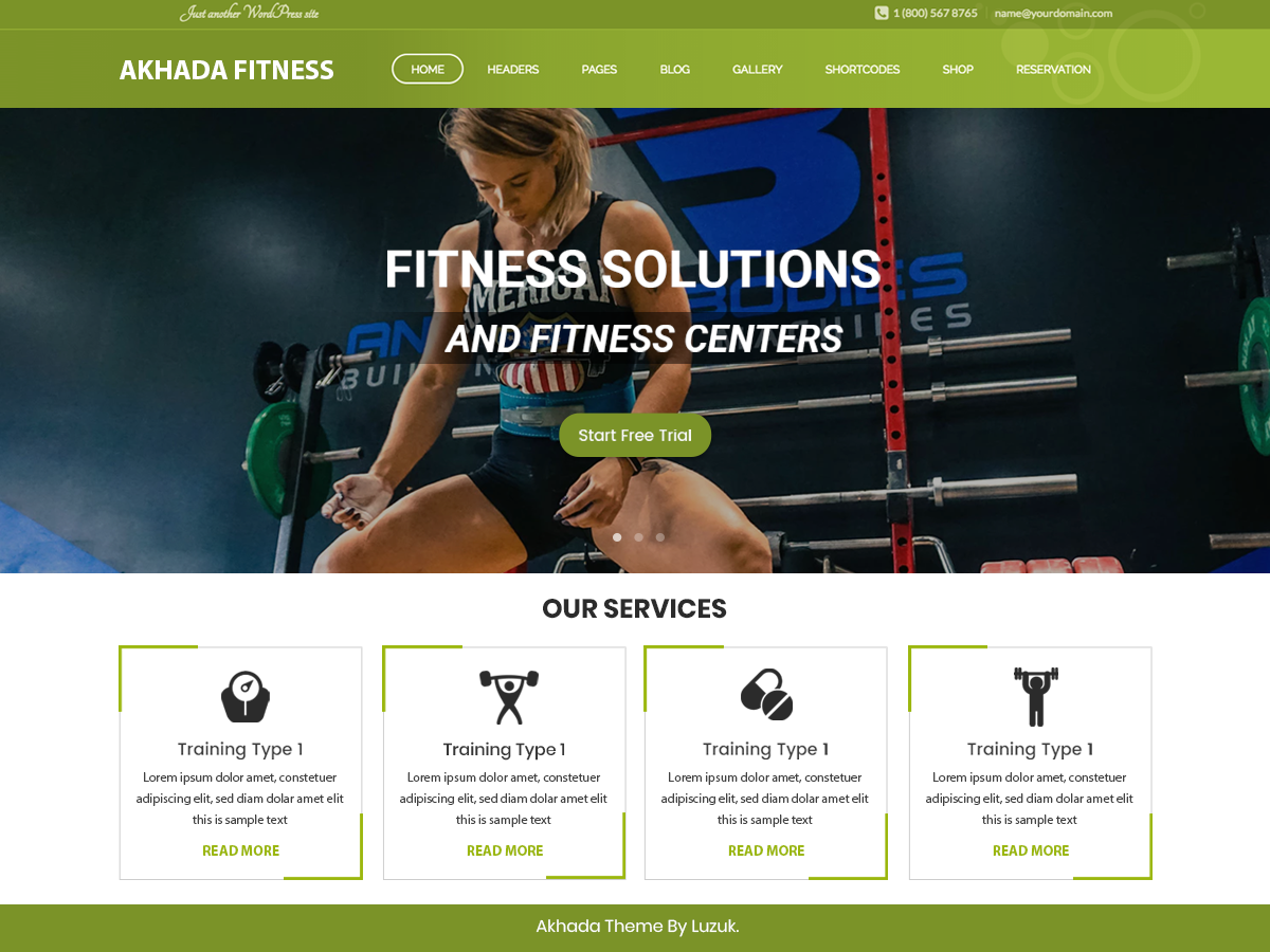 Akhada Fitness Gym Download Free Wordpress Theme 5