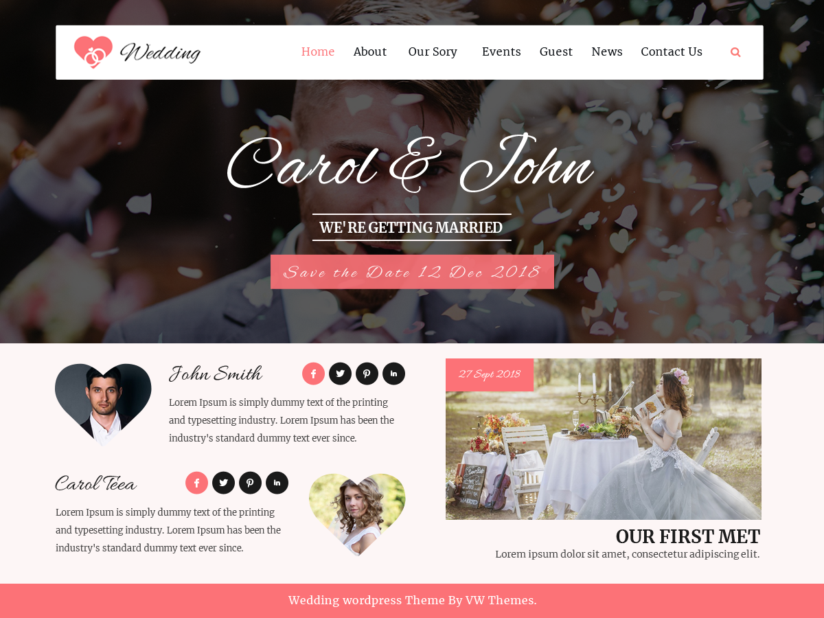 VW Wedding Download Free Wordpress Theme 5
