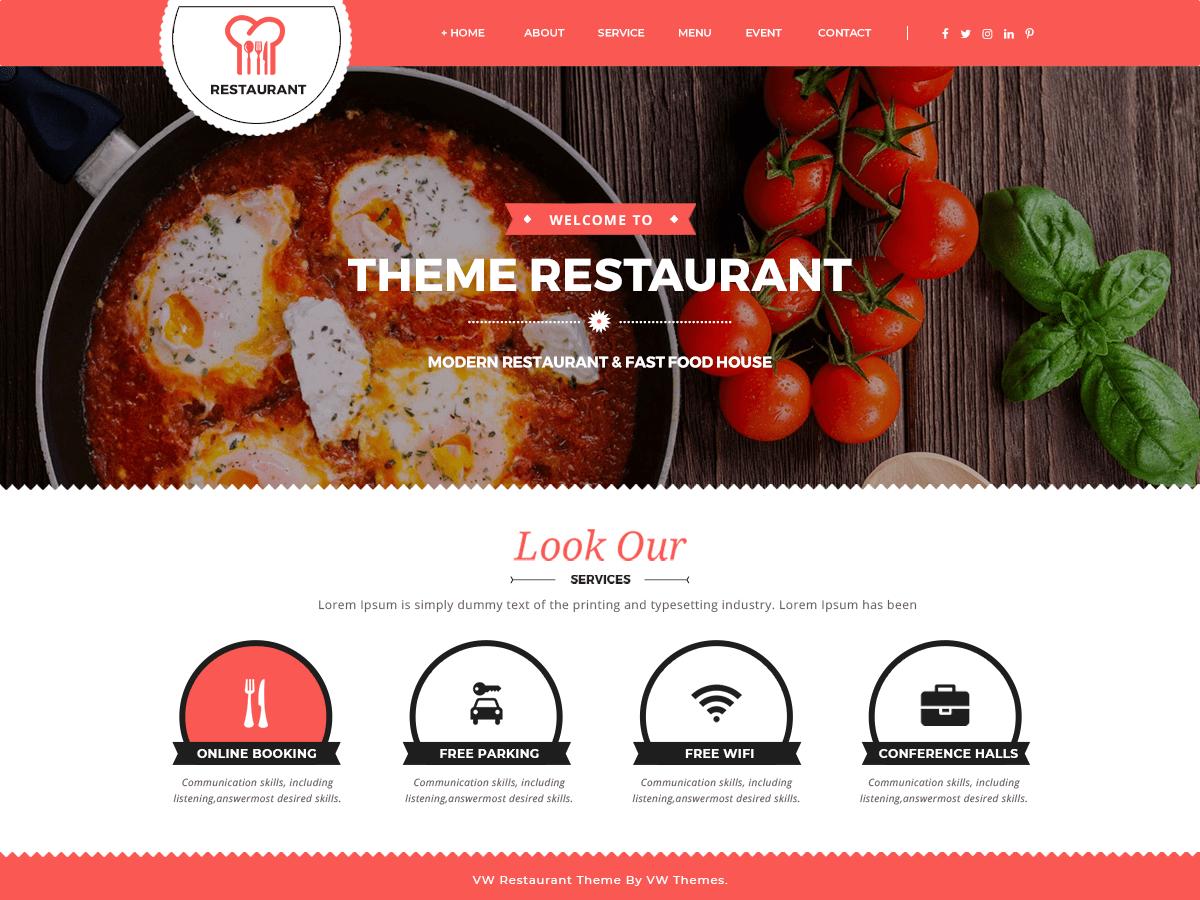 VW Food Corner Download Free Wordpress Theme 5