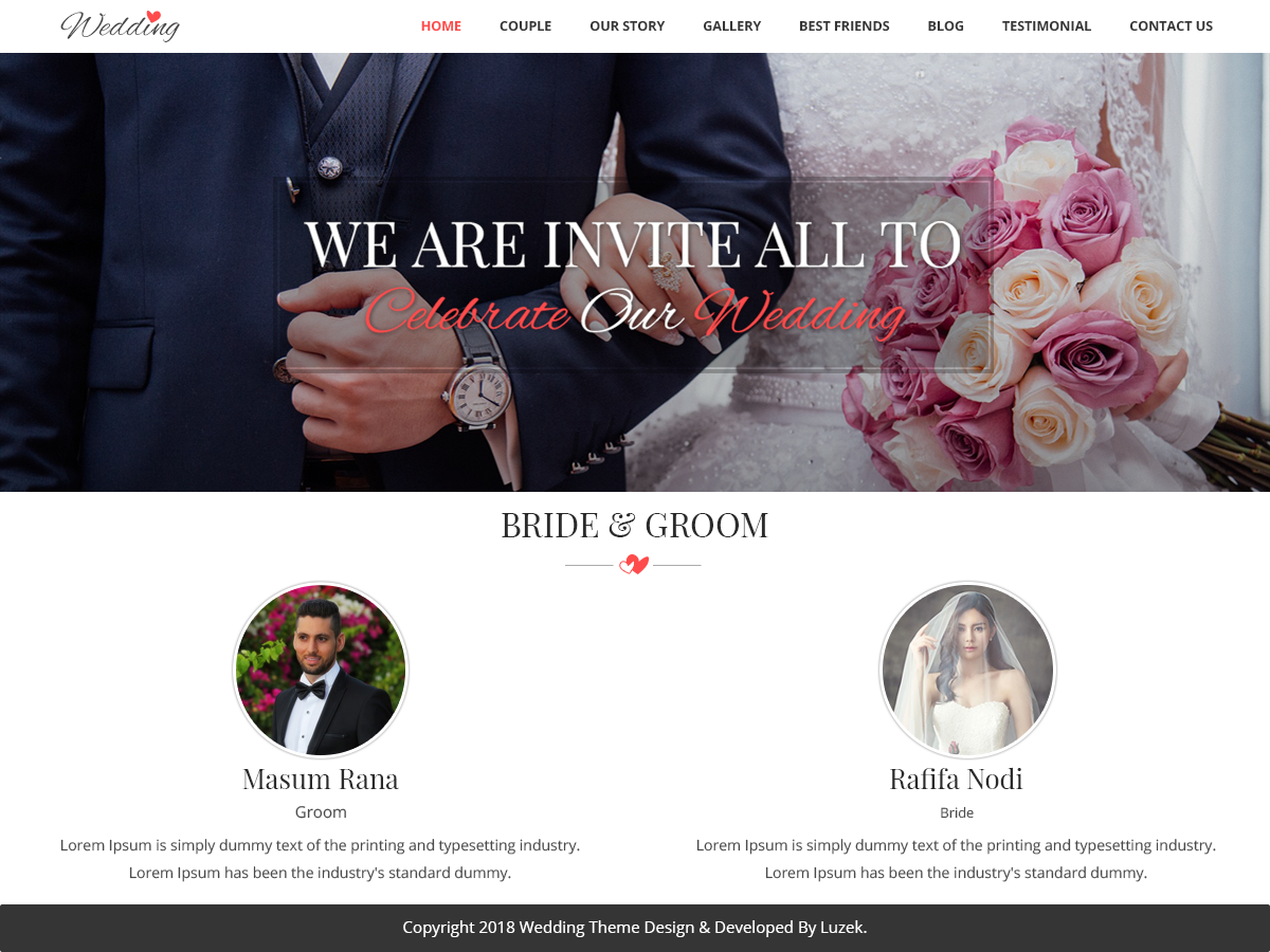 Vivah Royal Wedding Download Free Wordpress Theme 2