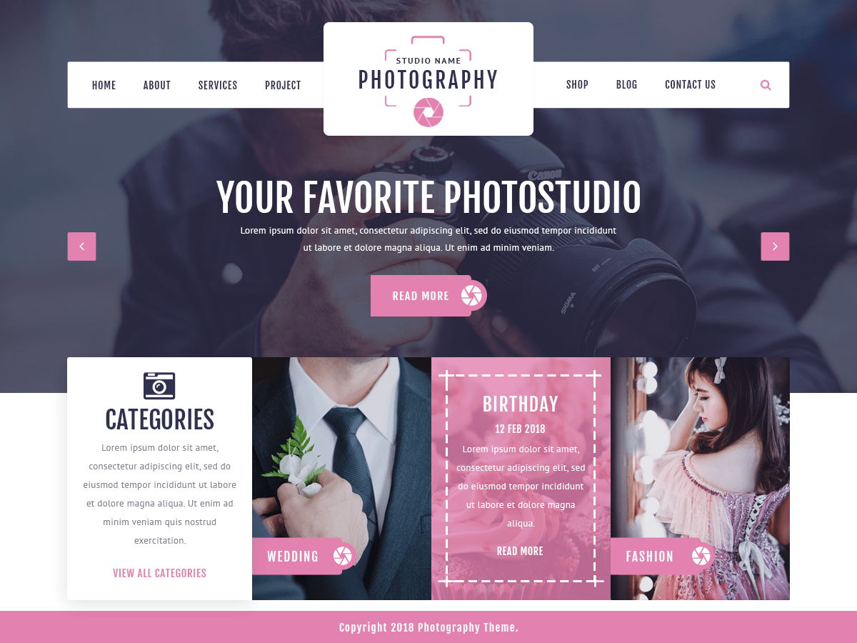 VW Photography Download Free Wordpress Theme 2
