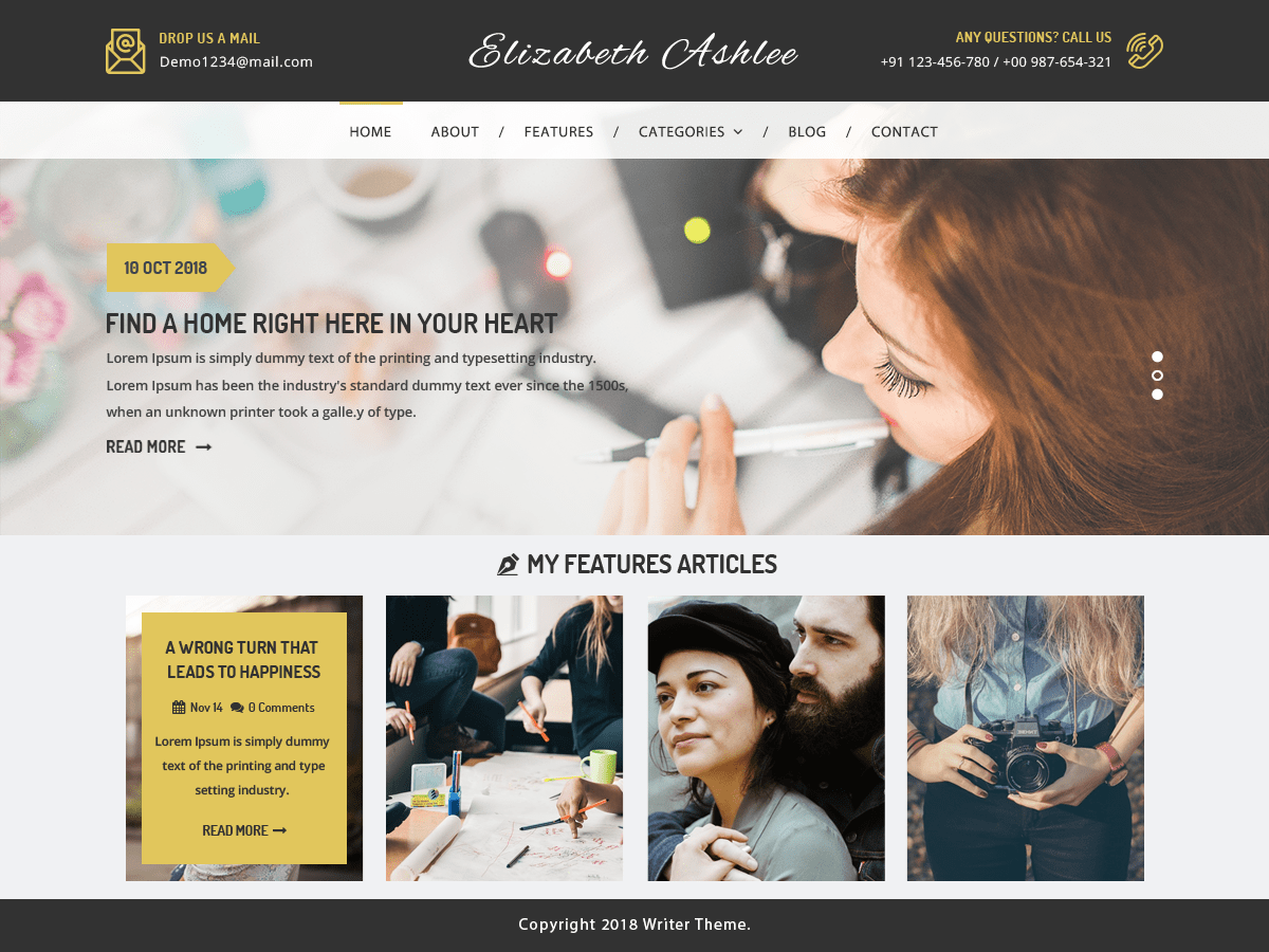 VW Writer Blog Download Free Wordpress Theme 4