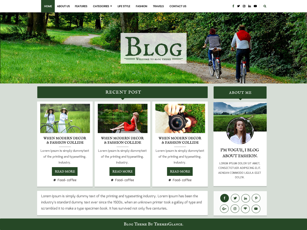 Blogger Base Download Free Wordpress Theme 5