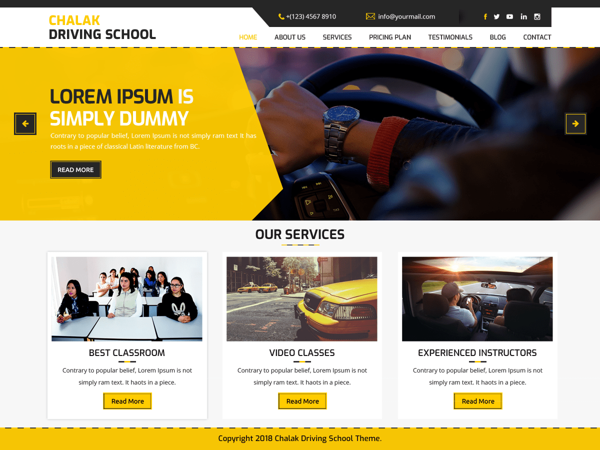 Chalak Driving School Download Free Wordpress Theme 5