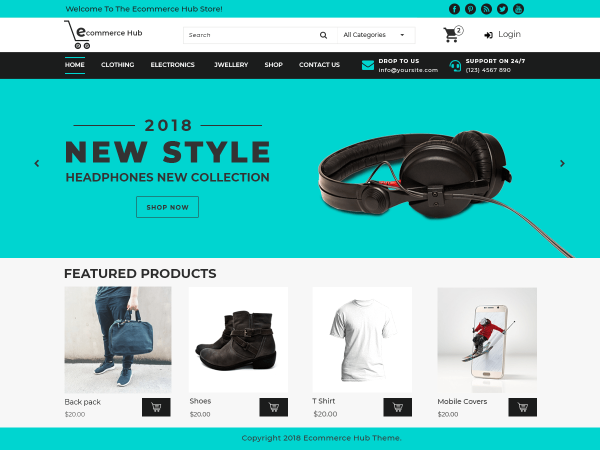 Ecommerce Hub Download Free Wordpress Theme 1