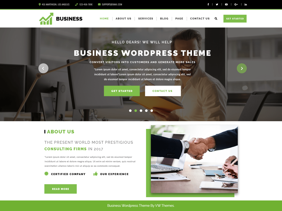 VW Corporate Business Download Free Wordpress Theme 5