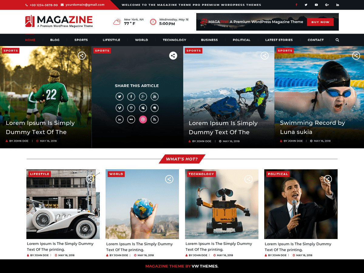 VW Magazine Download Free Wordpress Theme 1