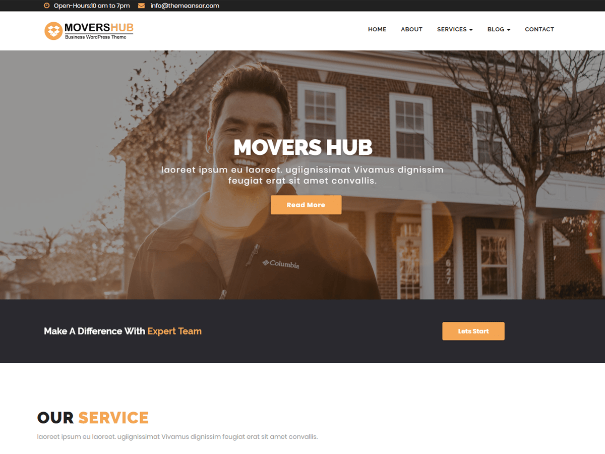 Movershub Download Free WordPress Theme