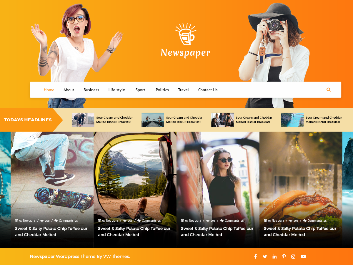 VW Newspaper Download Free Wordpress Theme 2