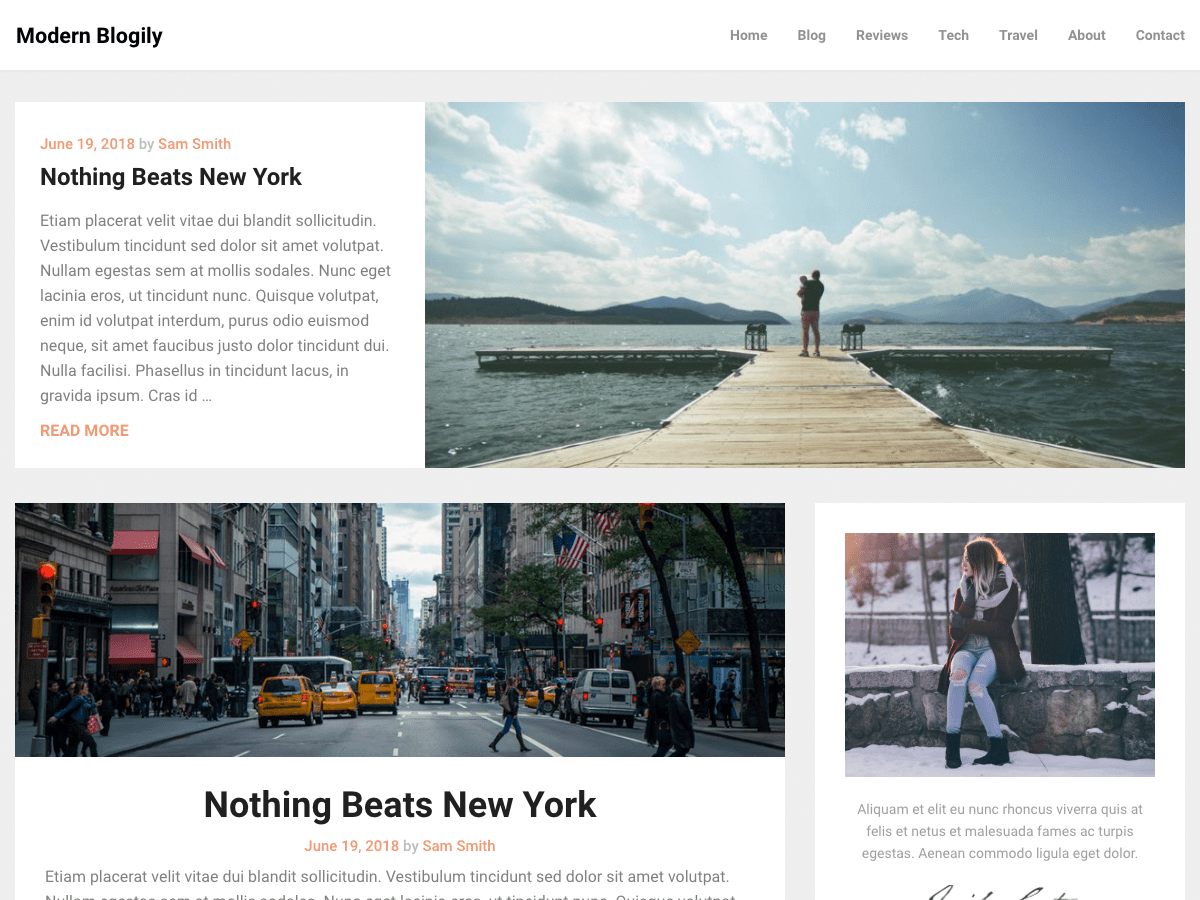 ModernBlogily Download Free Wordpress Theme 1