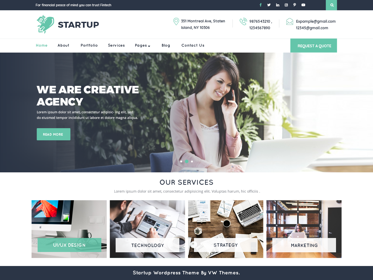 VW Startup Download Free Wordpress Theme 2