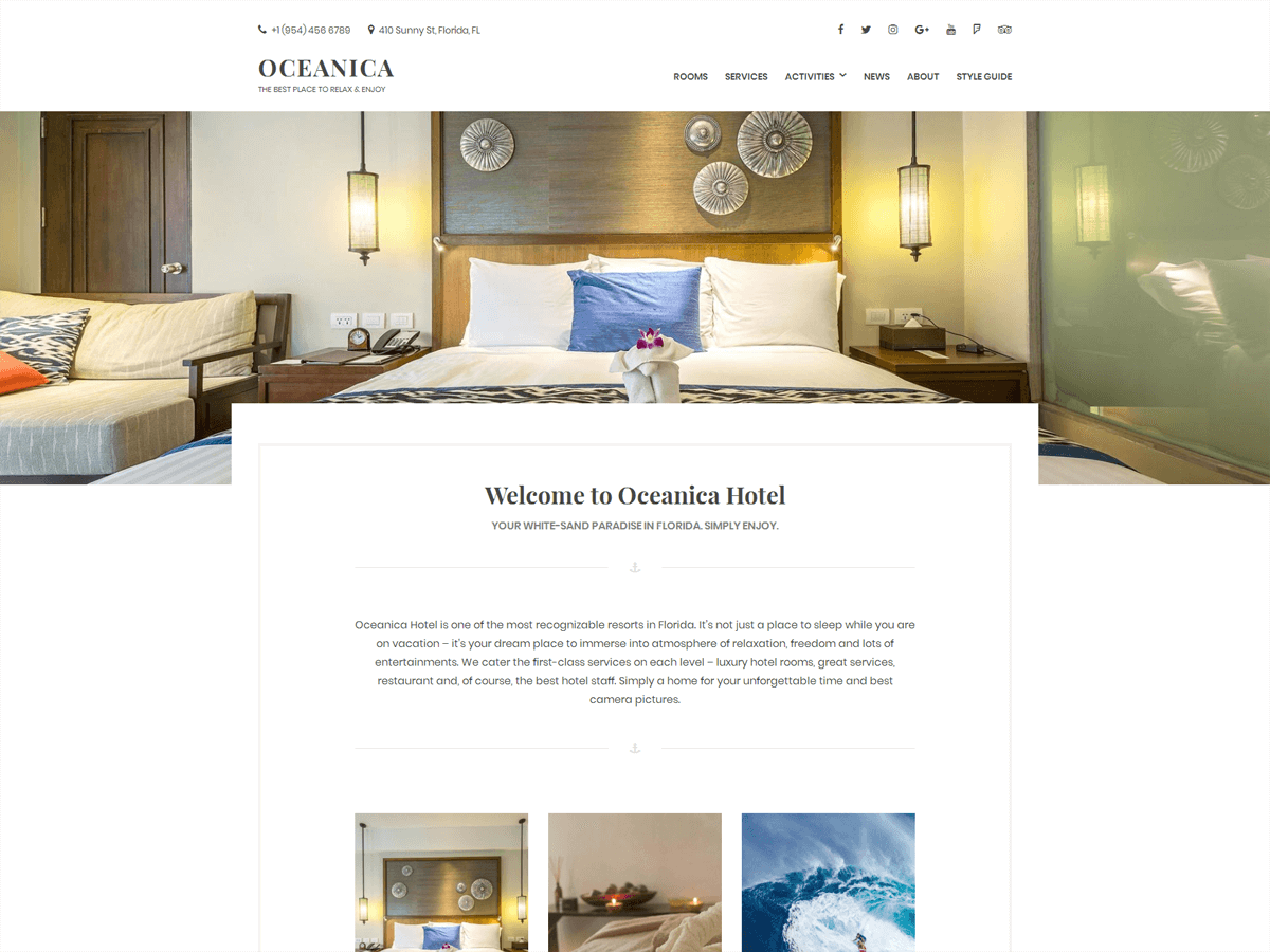 Oceanica Lite Download Free Wordpress Theme 4