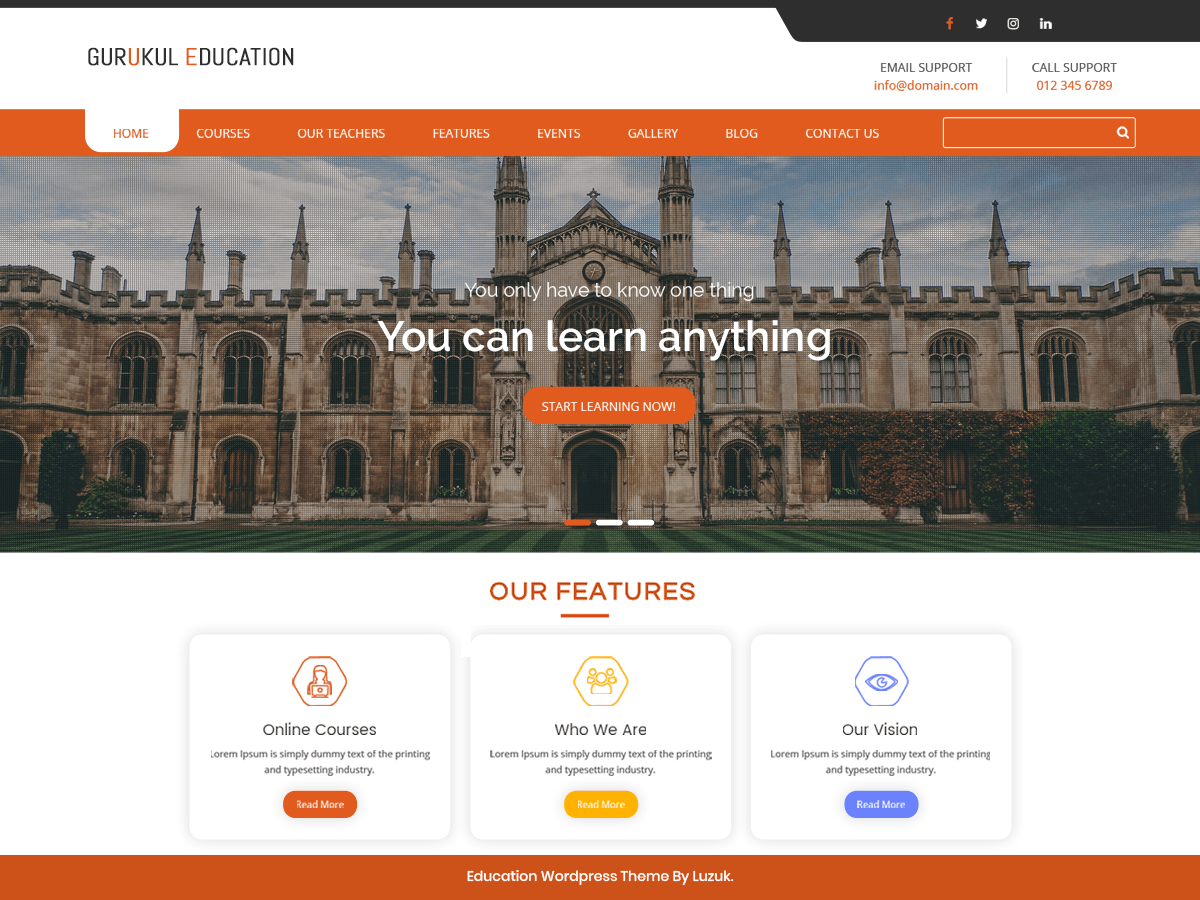 Gurukul Education Download Free Wordpress Theme 4