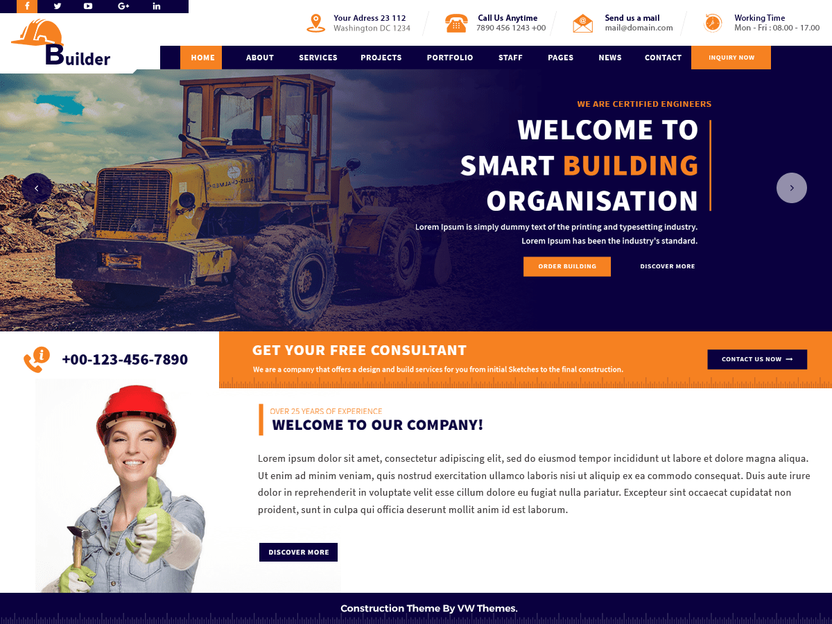 VW Construction Estate Download Free Wordpress Theme 5