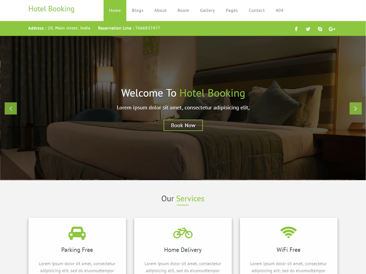 Hotel Booking Download Free Wordpress Theme 2