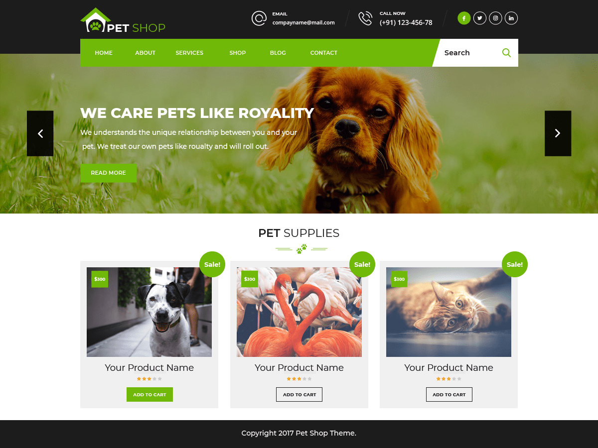 Pet Animal Store Download Free Wordpress Theme 5