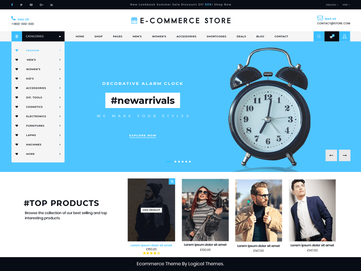 Ultimate Ecommerce Shop Download Free Wordpress Theme 3