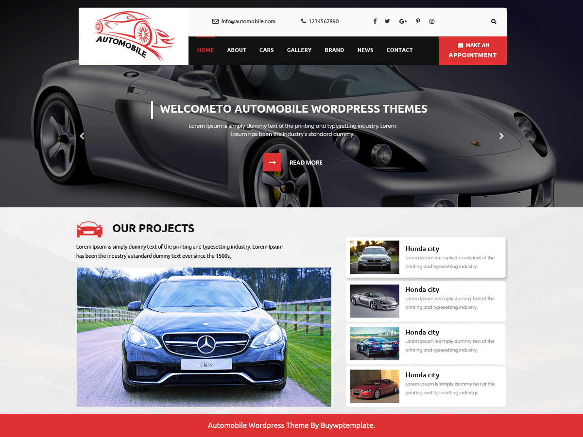 Automobile Car Dealer Download Free Wordpress Theme 1