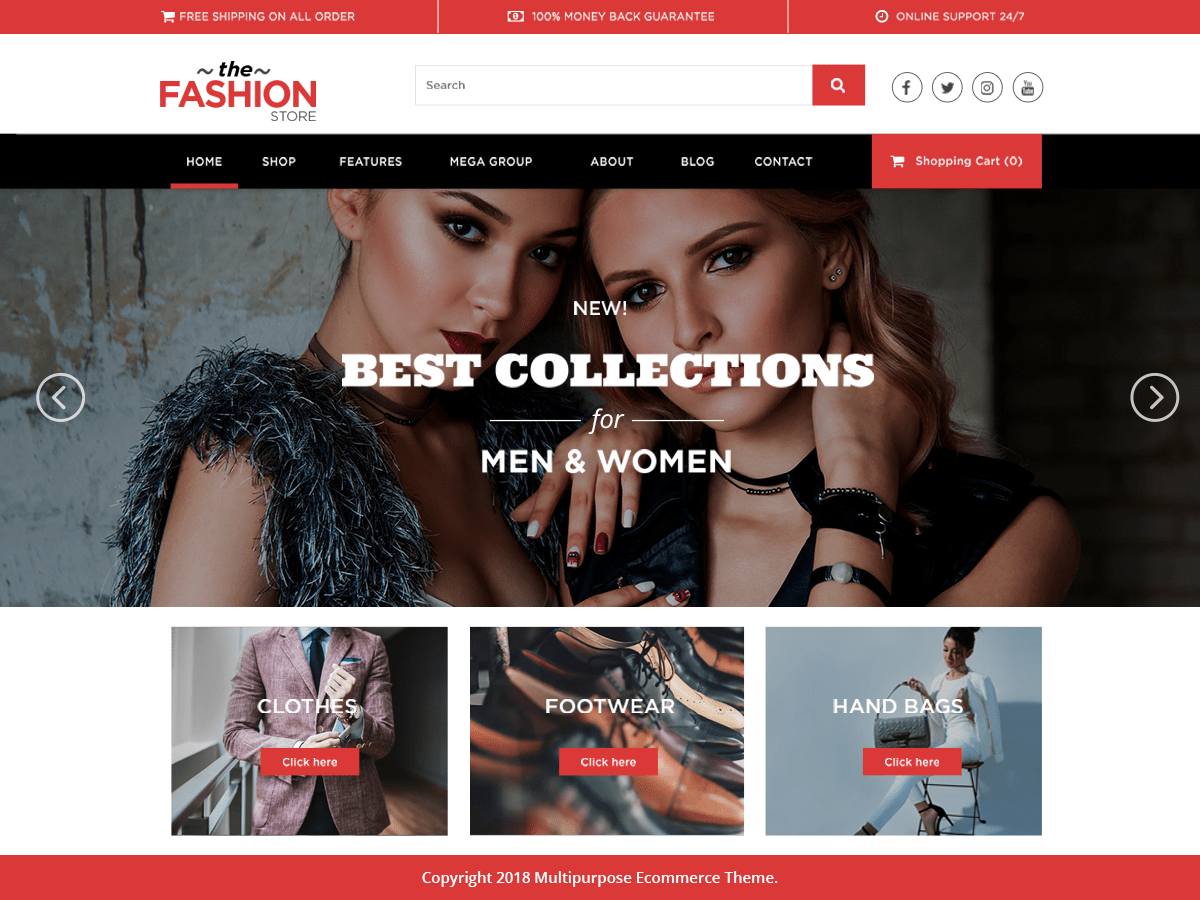 Multipurpose Ecommerce Download Free Wordpress Theme 3
