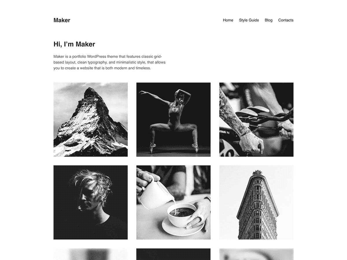 Maker Download Free Wordpress Theme 1