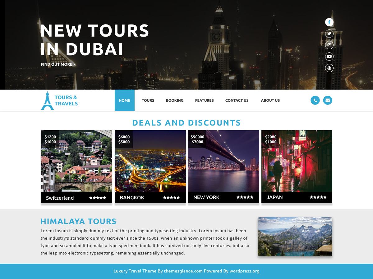 Luxury Travel Download Free Wordpress Theme 1