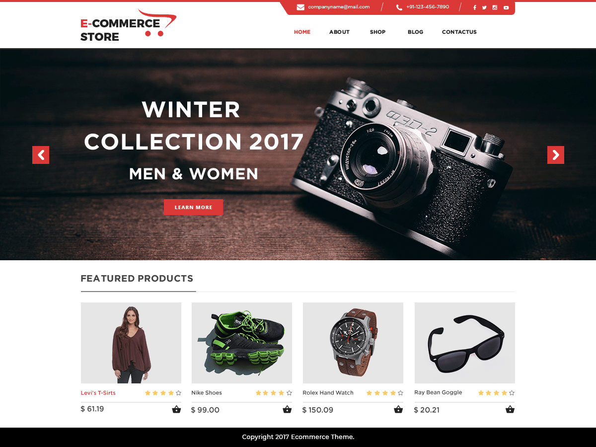 TC E-Commerce Shop Download Free WordPress Theme