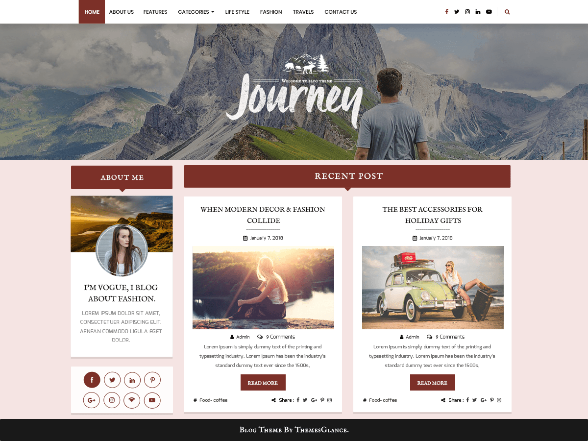 Blogger Hub Download Free Wordpress Theme 5