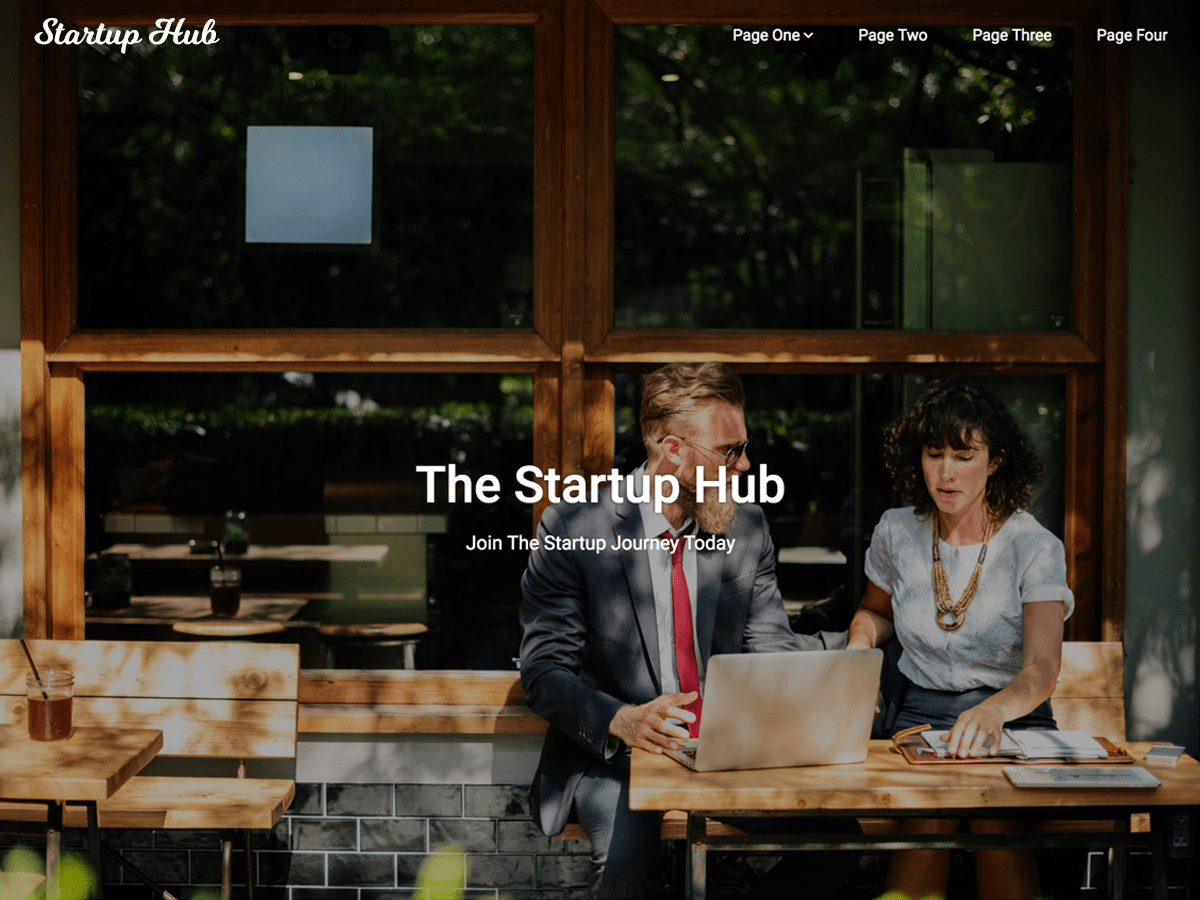 Startup Hub Download Free Wordpress Theme 1