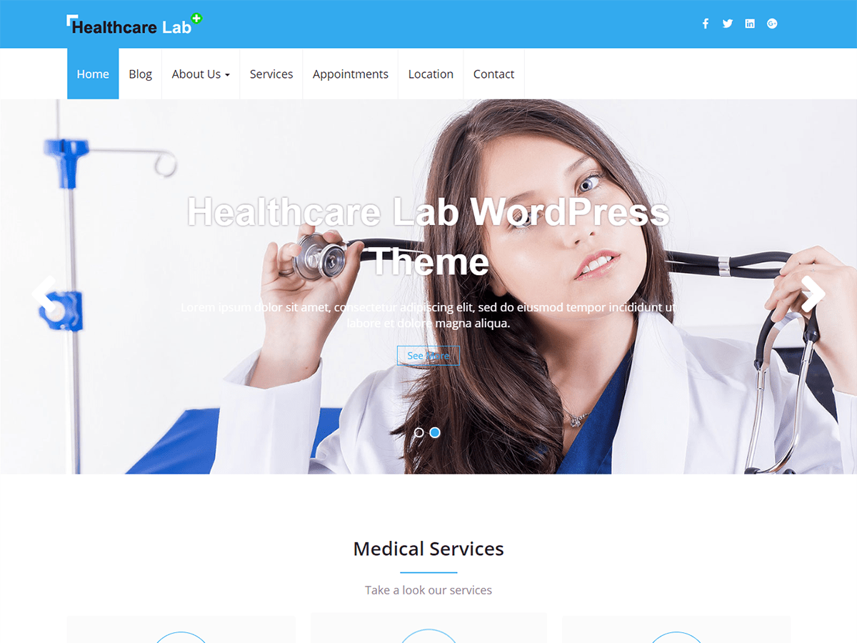 Healthcare Lab Download Free Wordpress Theme 1