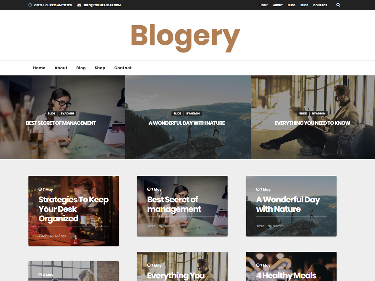 Blogery Download Free Wordpress Theme 4