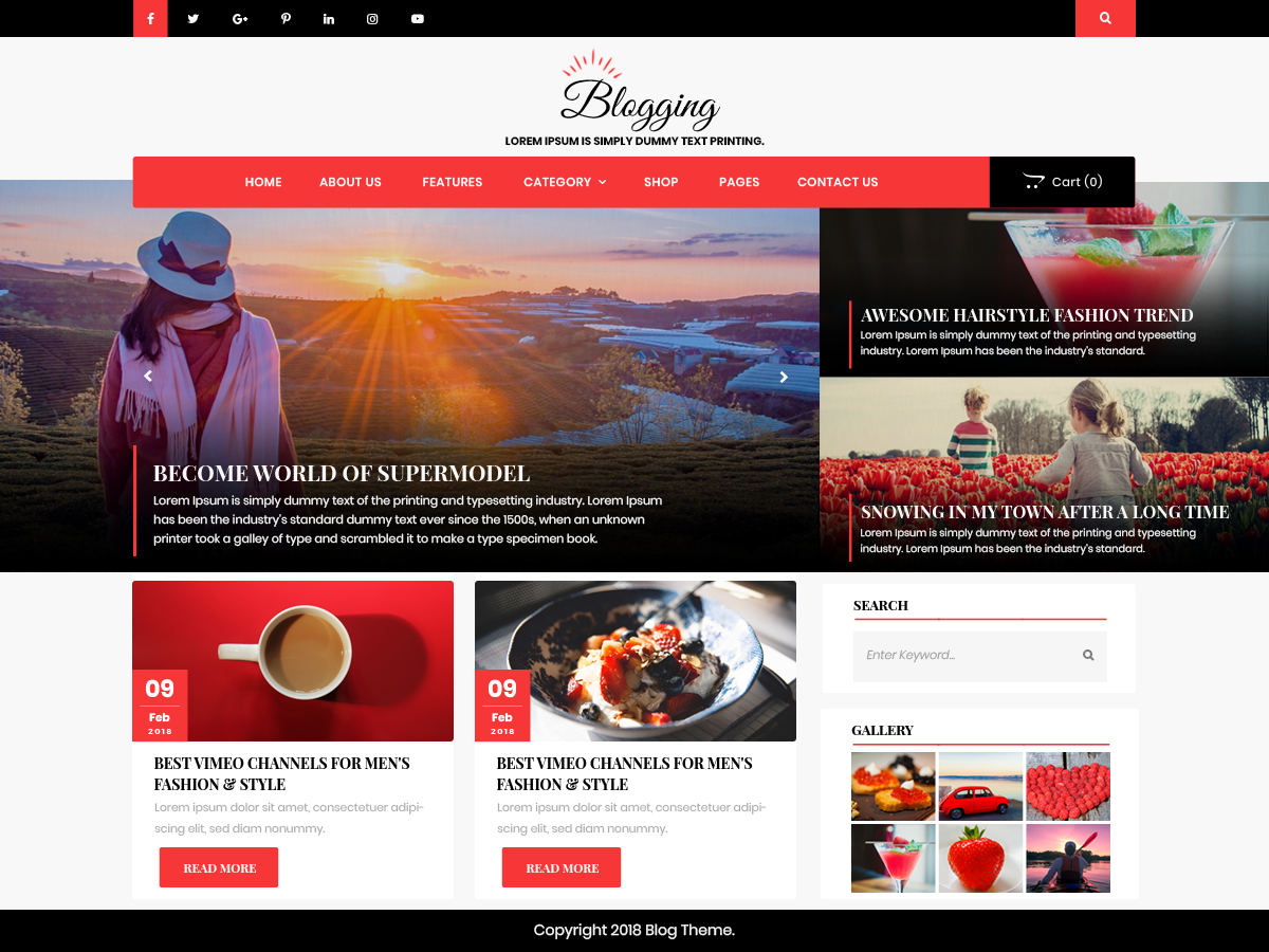 Advance Blogging Download Free Wordpress Theme 2