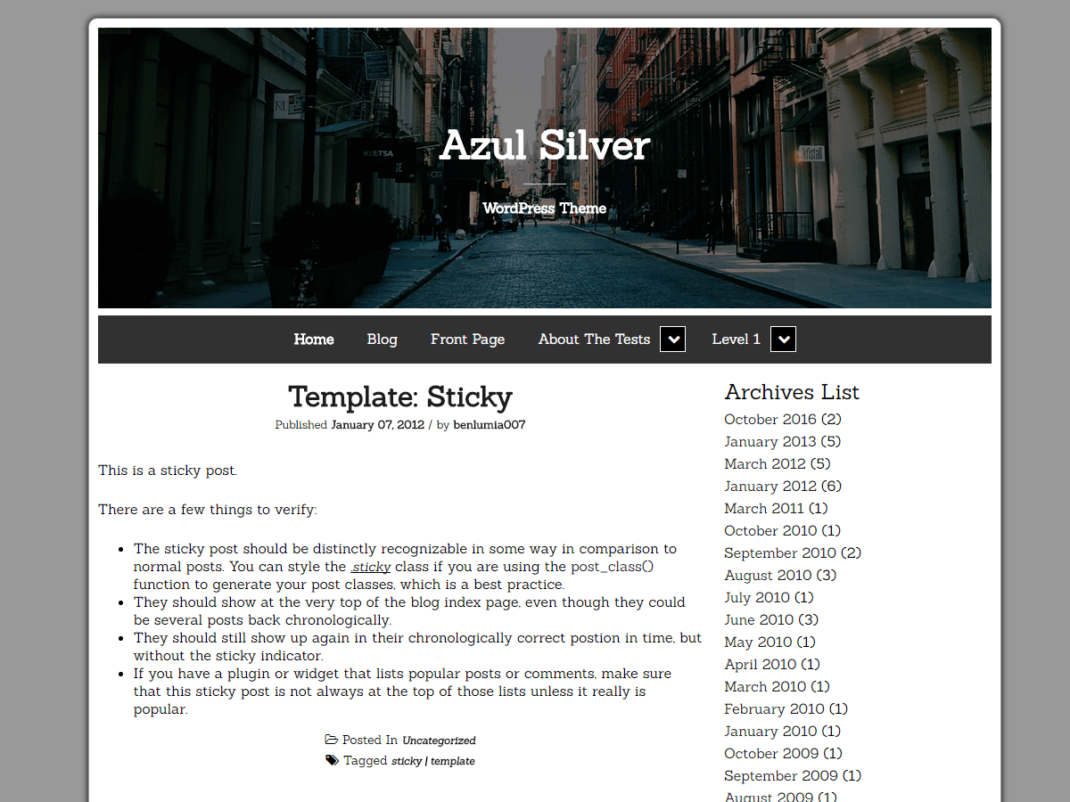 Azul Silver Download Free Wordpress Theme 5
