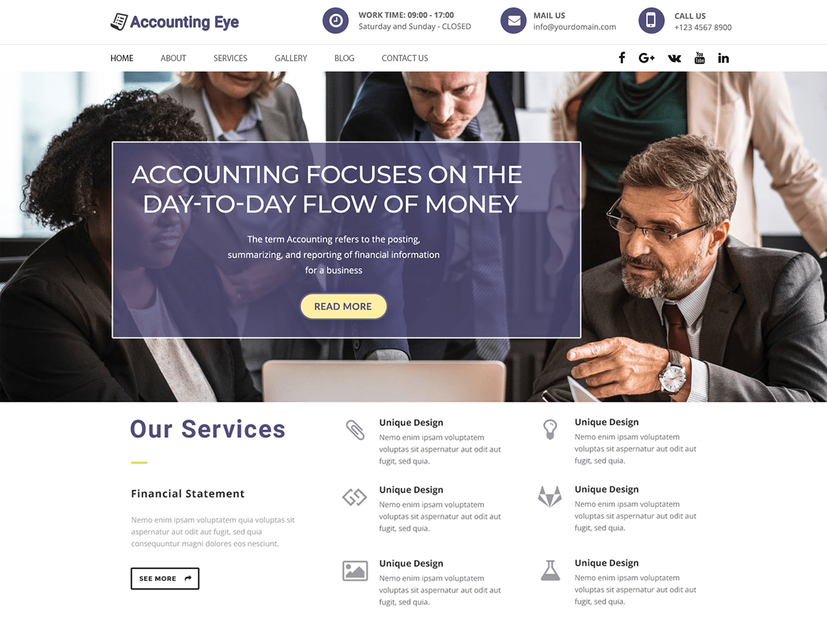 Finance Accounting Download Free Wordpress Theme 1