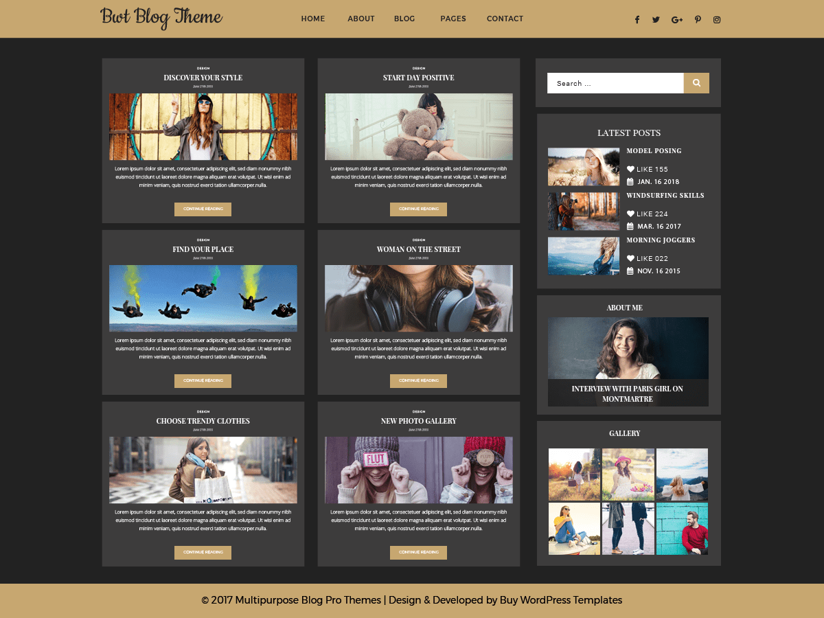 Ultimate Blogger Download Free Wordpress Theme 1
