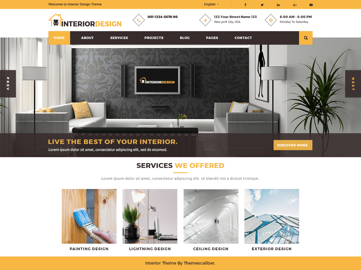 Interior Designs Download Free Wordpress Theme 3